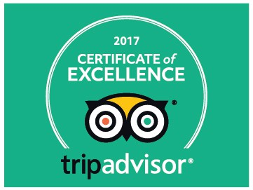 2016 Certificate of Excellence from Trip Advisor for Sweet Dreams B&B Los Angeles